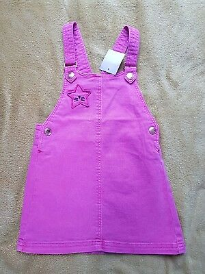 NEXT BNWT girl pink pinafore dress size 2-3 years