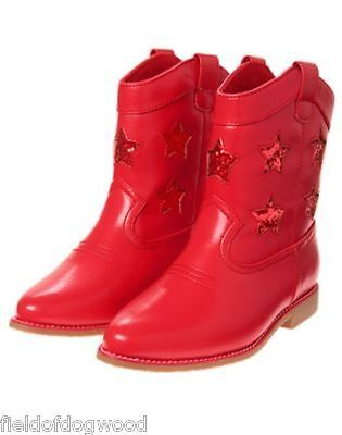 NWT Gymboree Fourth 4th of July Red Star Cowgirl Boots Bootie Star Spangled Days