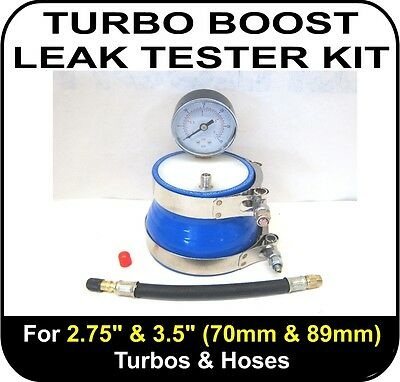 "TURBO BOOST LEAK TESTER Fits 2.75"" & 3.5"" (70 & 89mm) Turbos Pipes Hose"