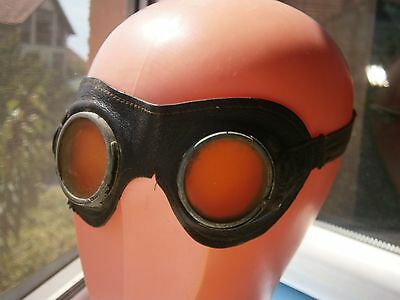 Wwii Germany Motor Motorcycle? Protective Safety Glasses Goggles Pilot ? Brille