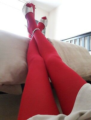 **Soft Hot Pink Opaque Tights** Size L**60 Den**Pre-Owned**