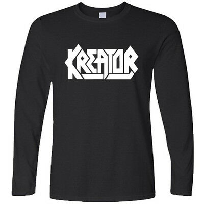 New KREATOR Heavy Metal Rock Band Long Sleeve Black T-Shirt Size S to 3XL
