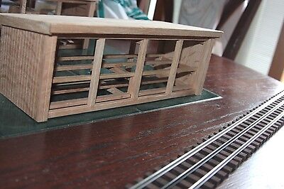 S gauge handmade lumber shed only for American flyer and other S gauge trains.