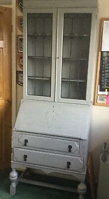 Vintage Oak bureau and bookcase - Annie Sloan painted and waxed