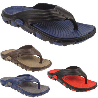 New Mens Slip On Toe Post Sports Beach Holiday Summer Sandals Flip Flops Sizes