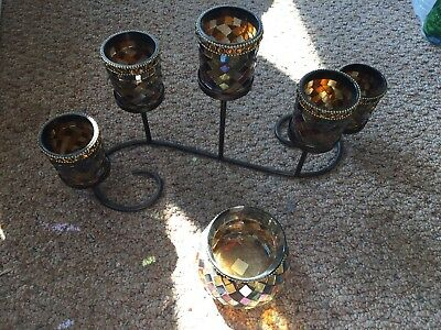 partylite global fusion mosaic candle holders votive