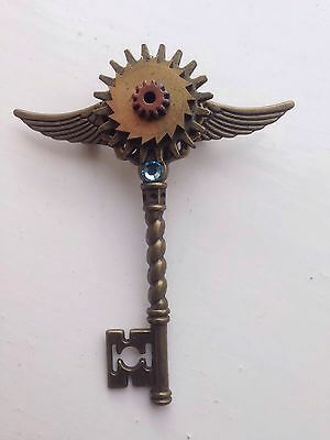 Cog/gear Key Brooch