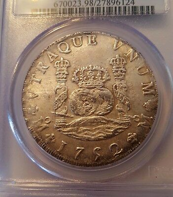 1752 Mexico 8 Reales  PCGS Graded Uncirculated Details Mo-MF