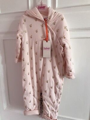 Gorgeous girls Ted Baker Pram Suit / Snuggle suit 12-18 Months BNWT