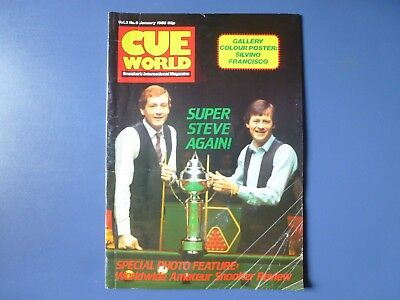Cue World magazines January-December 1985, 11 early issues .Not published June.