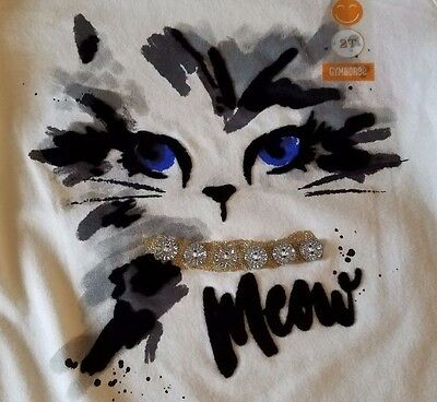 NEW Gymboree Catastic City Kitty Ivory Meow Cat Tee Shirt Top Toddler Girls 2T