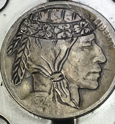 Indian Brave Hobo Nickel Coin Art