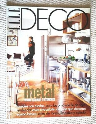 Revista ELLE DECO #58, October 1998 (Magazine, DECORACION). COLLECTORS!