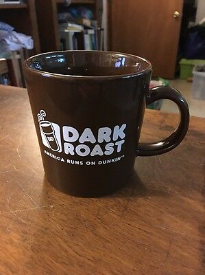 Dunkin Donuts Porcelain Cafe Style Coffee Cup Dark Roast
