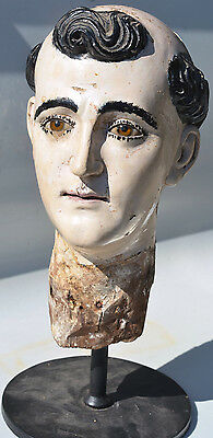 18Th Century Saint Anthony - Spanish Colonial Santo Head