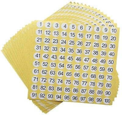 dealzEpic - Number Stickers - 1 to 100 Round Self Adhesive Stickers - Set of 15
