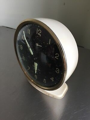 Modern Retro Westlox Wind Up Alarm Clock Black And Gold Face