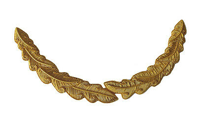 Bullion Wire Oak Leaf for British Army Royal Navy Officers Peaked Cap Hat
