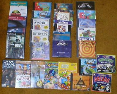 Wholesale Lot of 27 Assorted CD-ROM PC/Video Games/Referen/Applications, etc...