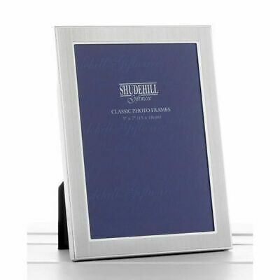 "Plain Silver Satin 5"" x 7"" Classic Photo Picture Frame Gift Present By Shudehill"