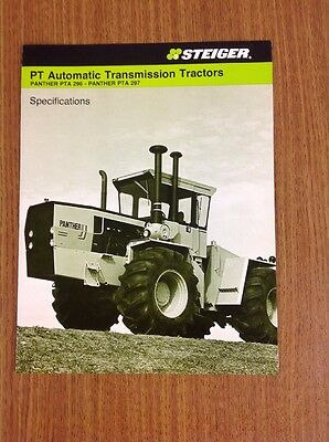 Steiger Tractor PT Automatic Transmission Tractors Brochure