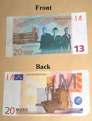 RARE Muse Money Muso from Rome gig Stadio Olimpico 6-7-13 2013 2nd Law Tour Roma