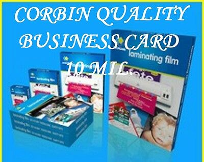 Business Card Hot Laminating Pouches 10 Mil 2-1/4 x 3-3/4 Ultra Clear 100/BOX