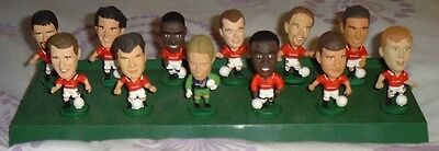 Set Of 12 Corinthian Man Utd Figures & Stand 1995