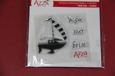Scrapbooking - Azza - Micro Tampon Voilier