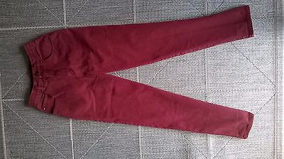 Dark Red/Maroon/Wine/Burgundy Liz Wear High Waisted Mom Jeans W24 L30