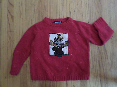 Boys or Girls Christmas Sweater Class Club, Size 3, Decorated Moose with Friends