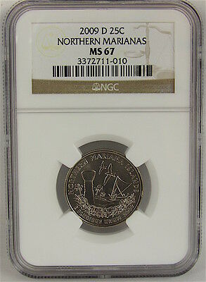 2009-D Northern Marianas Quarter Ngc Ms67 - Business Strike