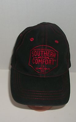 New Orleans Original Southern Comfort Black Red Embroidered Baseball Cap
