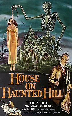 RARE House On Haunted Hill (1958) US One Sheet Film Poster