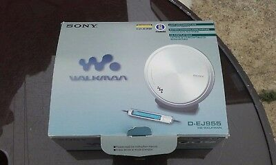 Sony Walkman CD D-EJ955 Remote & Charger Portable Disc Compact Player Vintage