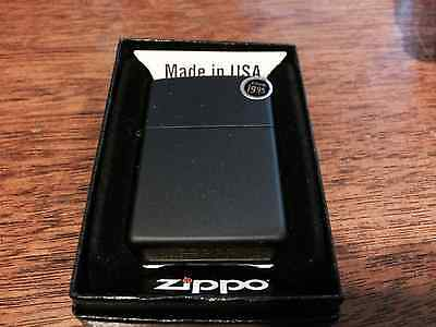 Zippo Black Matte Lighter,  Item 218, New In Box