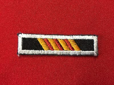 US Army Beret Patch 5th SFG(A)Recognition Bar - Candy Stripe Cut Edge
