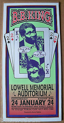 1998 Arminski BB King Lowell Memorial Aud NYC  Gig Poster Pop Culture Art