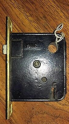 Antique Yale Interior Mortise Door Lock Set Towne  #5