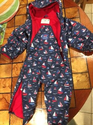 Jojo Maman Bebe Waterproof Fleece Lined All In One 9-12 Months