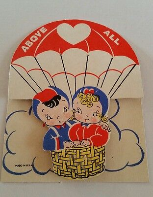 Vintage Valentine Card Above All.   Used Card