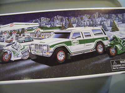 Hess 2004 Sport Utility Vechicle And Motorcycles 40Th Anniversay Mint In Box