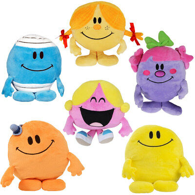 Mr Men Little Miss Soft Toy Plush Sunshine Chatterbox Naughty Bump Tickle Happy