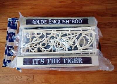 Olde English 800 Classic Neon Lighted Bar Sign Vintage Old E Tiger NWA Pabst