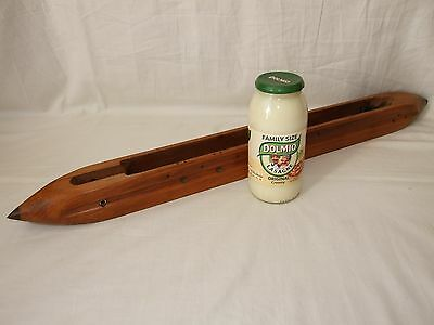 Extremely Large Vintage 82.5cm Weavers Textiles Loom Boat Shuttle, Collectable
