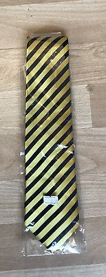 Equetech Navy/Yellow Broad Stripe Childs Tie - Showing - In Hand - Ridden