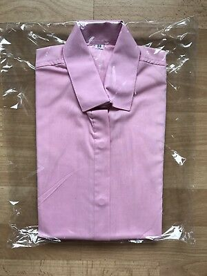 """Childs Long Sleeve Show Shirt - Pink - 28"""" - Showing - Ridden - In Hand"""