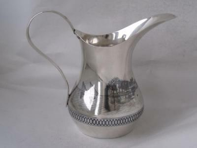 Signed Egyptian Cairo Solid Silver & Niello Jug/ H 12.4 cm/ 160 g/ UNMARKED