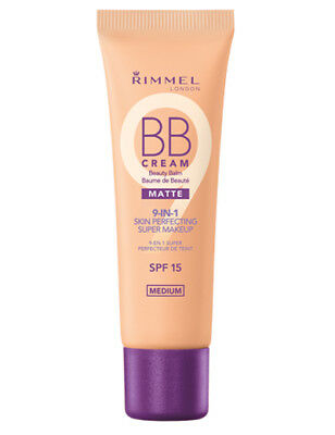 Rimmel BB Cream Matte 9-in-1 Skin Perfecting Super Makeup SPF 15 MEDIUM 30ml