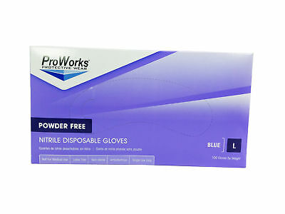 Hospeco ProWorks GL-N103FL Large Powder Free Nitrile Gloves (100 Glove, Box)